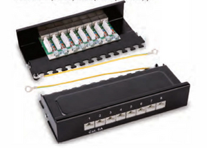 HY038 shielded 8 ports patch panel
